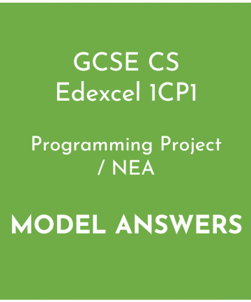 Edexcel GCSE Computer Science Programming Project Model Answers