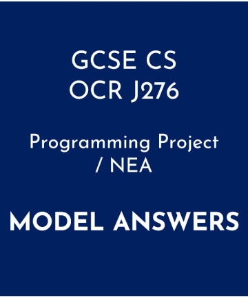 OCR GCSE Computer Science Programming Project Model Answers