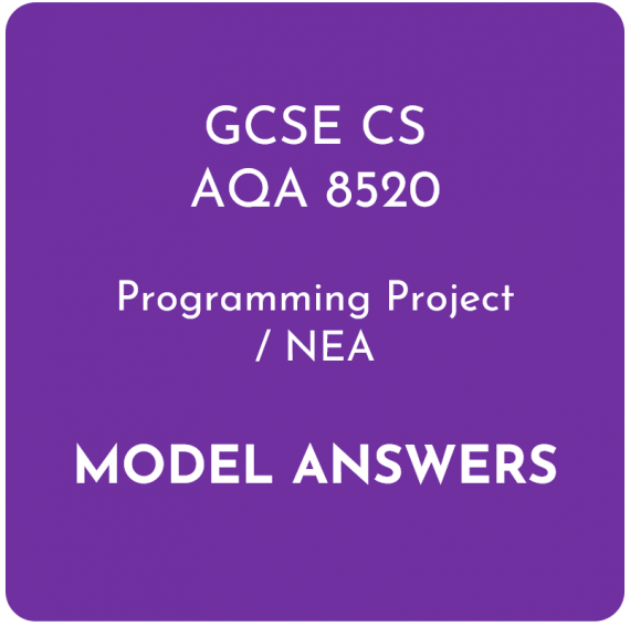 AQA GCSE Computer Science Programming Project Model Answers